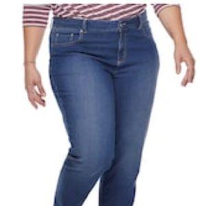 Just My Size 5 pocket Stretch Jean Sz 16W short$44